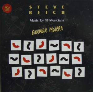 Steve Reich: Music For 18 Musicians - Cover