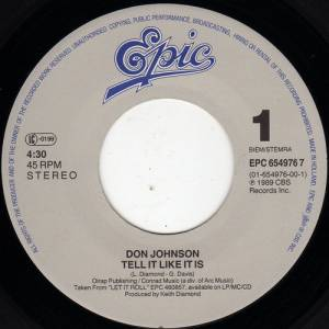 "Don Johnson: Tell It Like It Is (7"") - Bild 3"