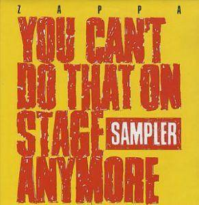 Frank Zappa: You Can't Do That On Stage Anymore Sampler - Cover