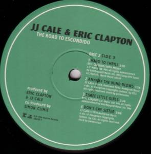 J J Cale Amp Eric Clapton The Road To Escondido 2 Lp
