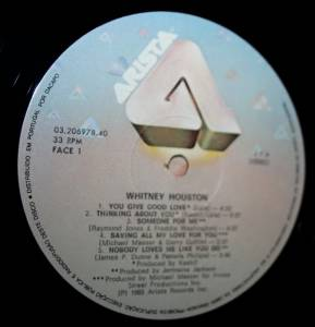 Whitney Houston: Whitney Houston (LP) - Bild 3