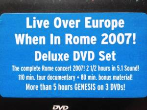 Genesis: When In Rome 2007 (3-DVD) - Bild 2
