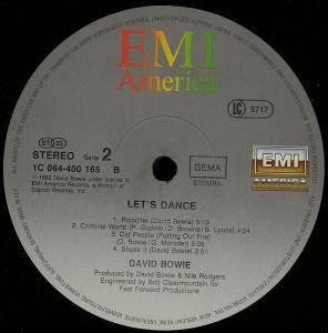 David Bowie: Let's Dance (LP) - Bild 3