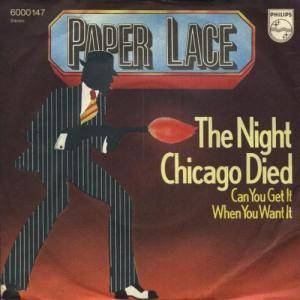 Paper Lace: Night Chicago Died, The - Cover