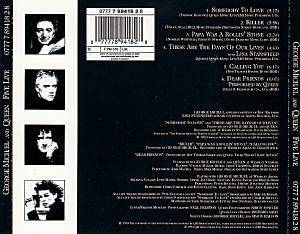 George Michael / Queen / George Michael, Queen, Lisa Stansfield / George Michael & Queen: Five Live (Split-Mini-CD / EP) - Bild 2