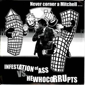 Hewhocorrupts: Never Corner A Mitchell... - Cover