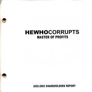 Hewhocorrupts: Master Of Profits - Cover