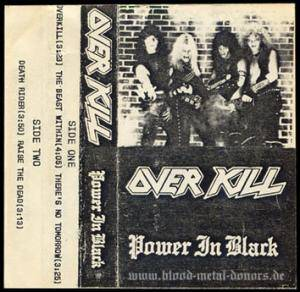 Overkill: Power In Black - Cover