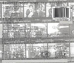 Beastie Boys: Some Old Bullshit (CD) - Bild 8