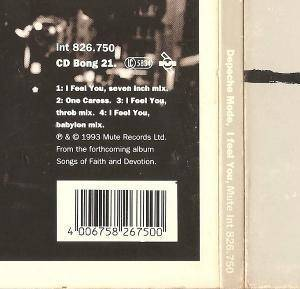 Depeche Mode: I Feel You (Single-CD) - Bild 3