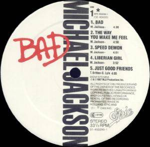 Michael Jackson: Bad (LP) - Bild 4
