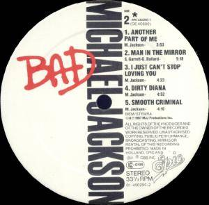 Michael Jackson: Bad (LP) - Bild 5