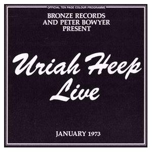 Uriah Heep: Live - January 1973 - Cover
