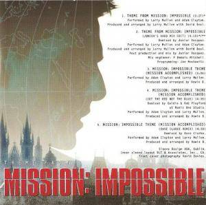 Adam Clayton & Larry Mullen: Theme From Mission: Impossible (Single-CD) - Bild 4
