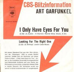 Cover - Art Garfunkel: I Only Have Eyes For You