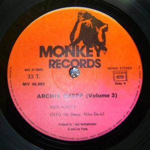 Cover - Archie Shepp: Monkey Records Vol. 3