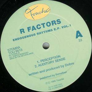 Cover - R Factors: Endogenous Rhythms E.P. Vol. 1