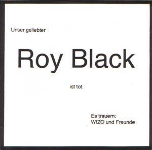 Cover - WIZO: Roy Black Ist Tot