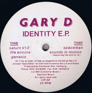 Gary D.: Identity EP - Cover