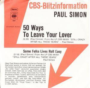 Paul Simon: 50 Ways To Leave Your Lover - Cover