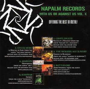 Cover - Artas: Napalm Records - With Us Or Against Us Vol. X