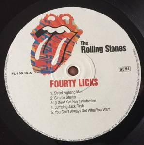 The Rolling Stones Forty Licks 3 Lp 2002 Best Of