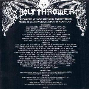 Bolt Thrower: In Battle There Is No Law (CD) - Bild 2