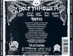 Bolt Thrower: In Battle There Is No Law (CD) - Bild 3