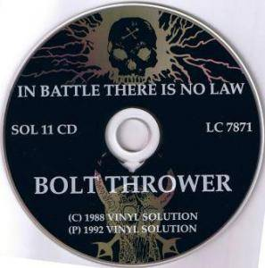 Bolt Thrower: In Battle There Is No Law (CD) - Bild 4