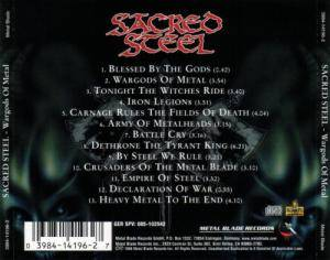 Sacred Steel: Wargods Of Metal (CD) - Bild 2