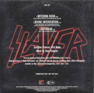 Slayer: Live Intrusion - Selections From The First Home Video Ever (Promo-Single-CD) - Bild 2