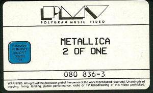 Metallica: 2 Of One (VHS) - Bild 4