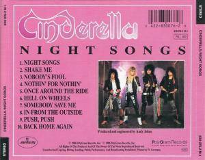 Cinderella: Night Songs (CD) - Bild 2