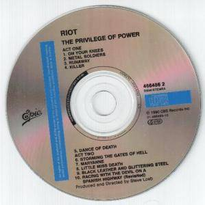 Riot: The Privilege Of Power (CD) - Bild 3