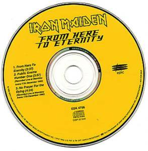 Iron Maiden: From Here To Eternity (Promo-Single-CD) - Bild 2