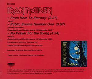 Iron Maiden: From Here To Eternity (Promo-Single-CD) - Bild 1