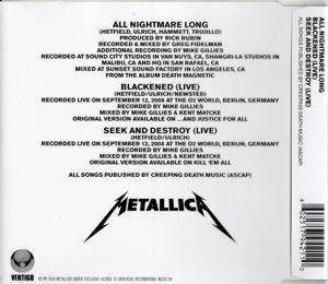 Metallica: All Nightmare Long (Single-CD) - Bild 2