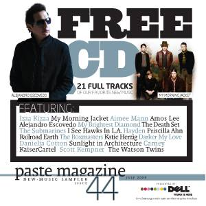 Cover - Railroad Earth: Paste Magazine New - Music Sampler 44 July 2008 Presented By: Dell