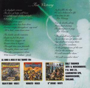 Bolt Thrower: ...For Victory (CD) - Bild 3