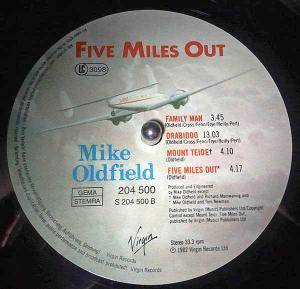 Mike Oldfield: Five Miles Out (LP) - Bild 2