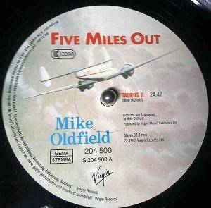 Mike Oldfield: Five Miles Out (LP) - Bild 3