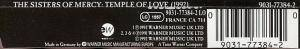 The Sisters Of Mercy: Temple Of Love (1992) (Single-CD) - Bild 3