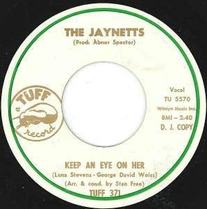 Cover - Jaynetts, The: Keep An Eye On Her