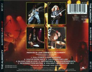 The Almighty: Blood, Fire & Live (CD) - Bild 2