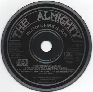 The Almighty: Blood, Fire & Live (CD) - Bild 3