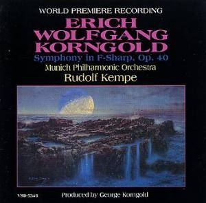 Cover - Erich Wolfgang Korngold: Symphony In F-Sharp, Op. 40