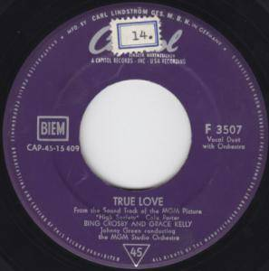 Cover - Bing Crosby & Grace Kelly: True Love