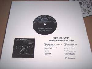 "The Weavers: Reunion At Carnegie Hall - 1963 (5-12"") - Bild 1"