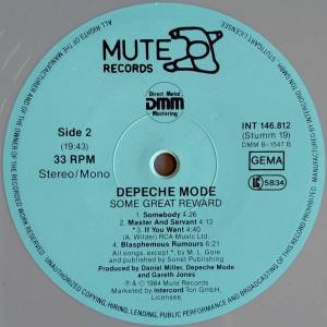 Depeche Mode: Some Great Reward (LP) - Bild 7