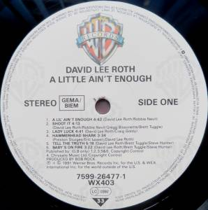 David Lee Roth: A Little Ain't Enough (LP) - Bild 3